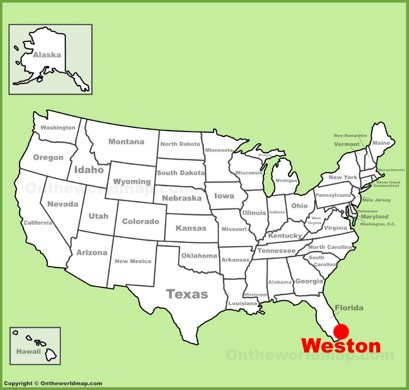 Weston Location Map