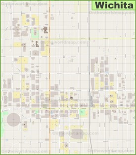 Wichita downtown map