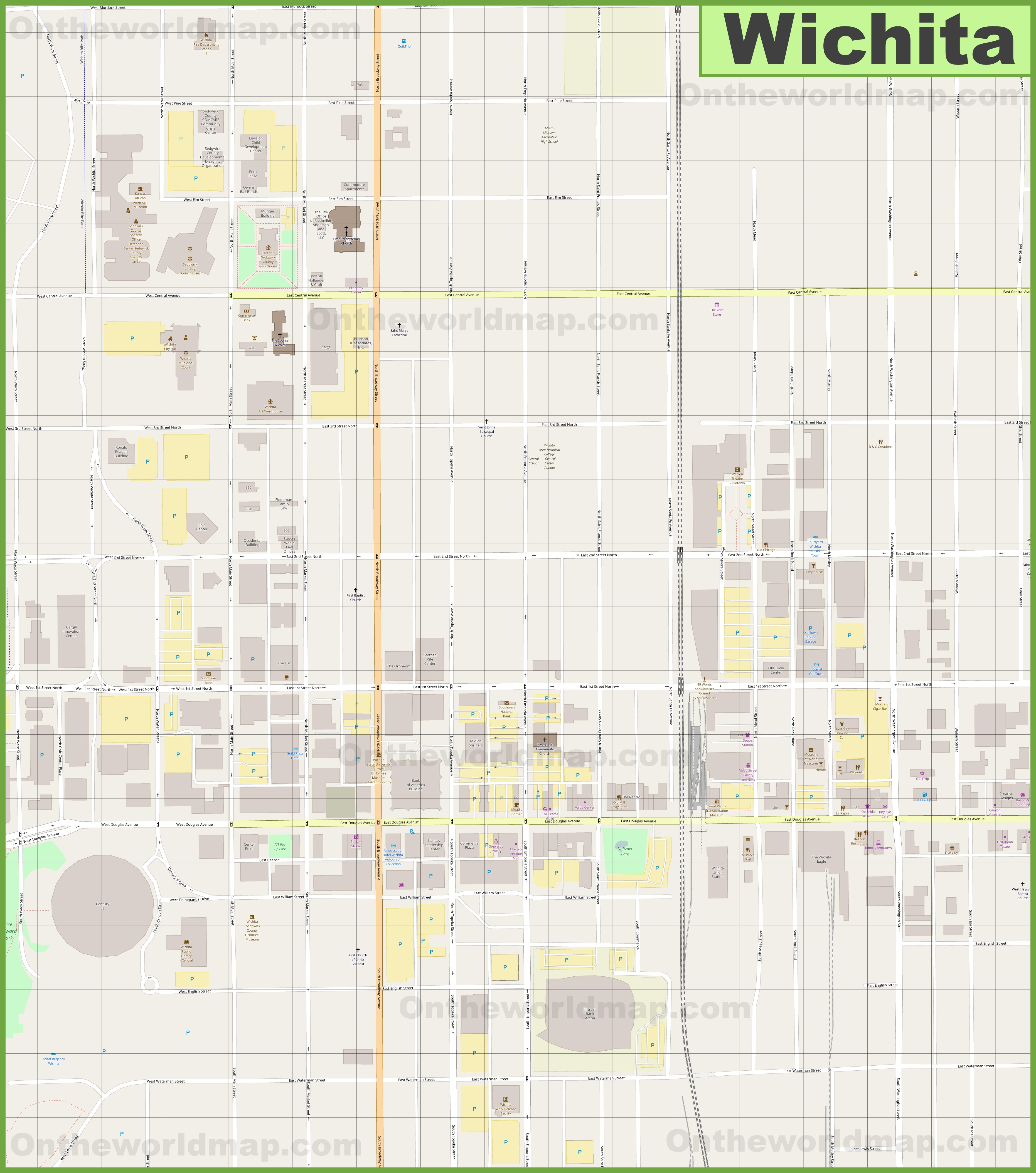 large map of south dakota minnesota html with Wichita Downtown Map on Springfield Mo Location On The Us Map also Baltimore National Aquarium Map furthermore Newport News Park Map in addition Wichita Downtown Map together with Santa Monica Street Map.