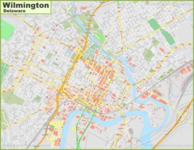 Large detailed map of Wilmington