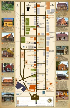 Old Salem sightseeing map