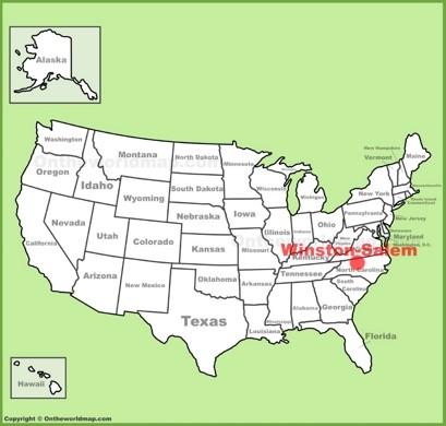 Winston-Salem Location Map