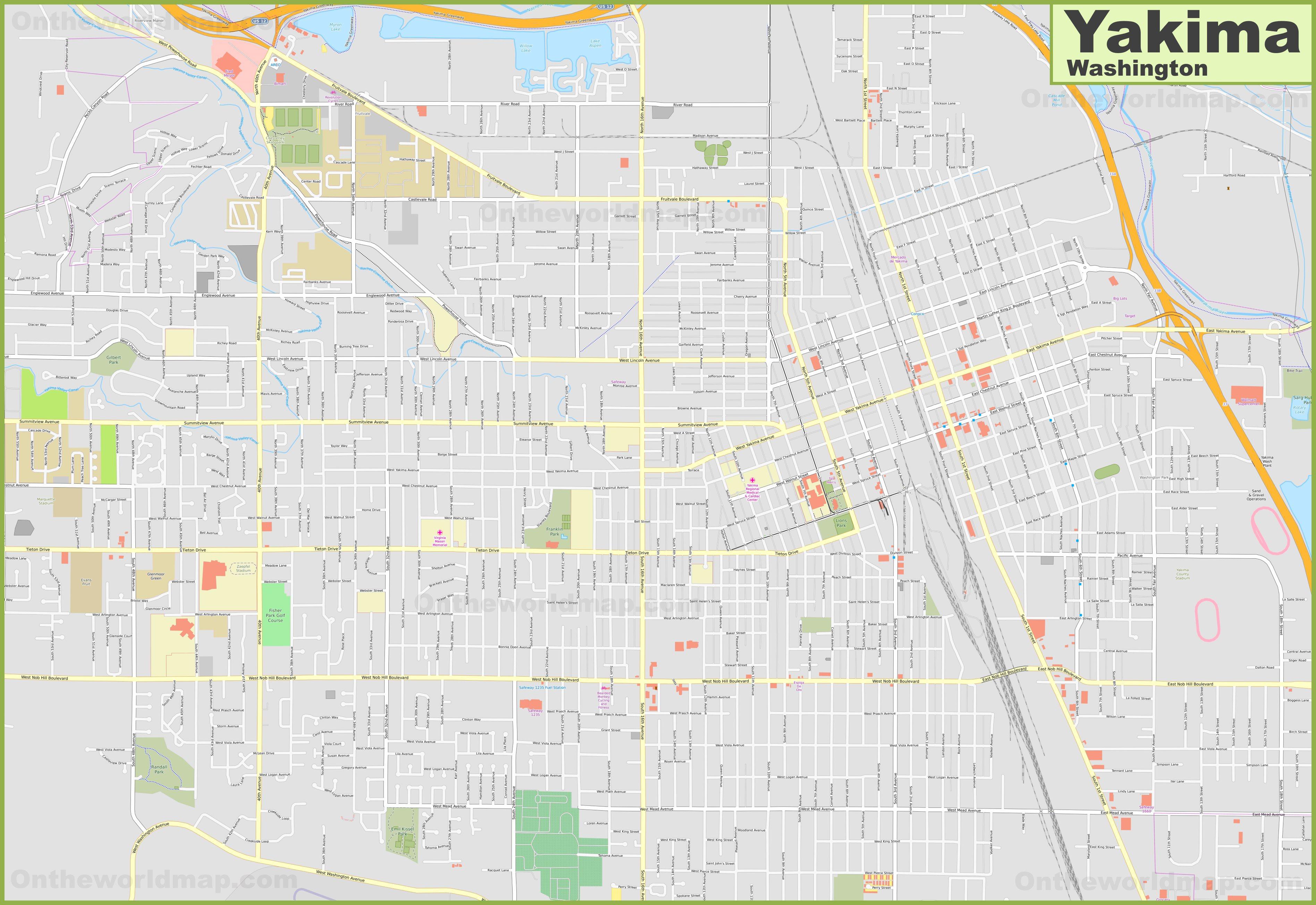 Large detailed map of Yakima on yakima county map detailed, yakima city art, yakima fairgrounds map, yakima wine country map, yakima hotels, hermiston or street map, yakima fire department, little naches orv map, city of yakima zoning map, sunnyside wa street map, ellensburg street map, yakima valley map, yakima tribe map, yakima airport, yakima oregon map, yakima city hall, yakima road map, yakima county on map, yakima firing range map, yakima restaurant map,