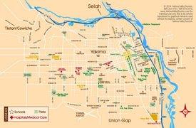 Yakima tourist map