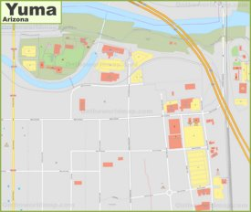 Yuma downtown map