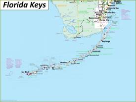 Detailed Map of Florida Keys