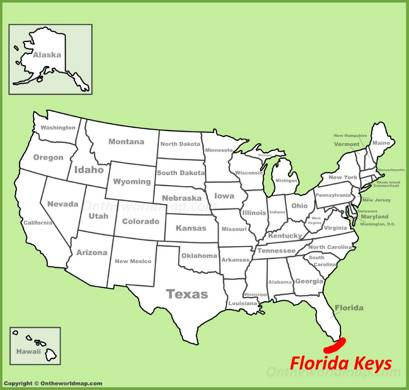 Florida Keys Location Map