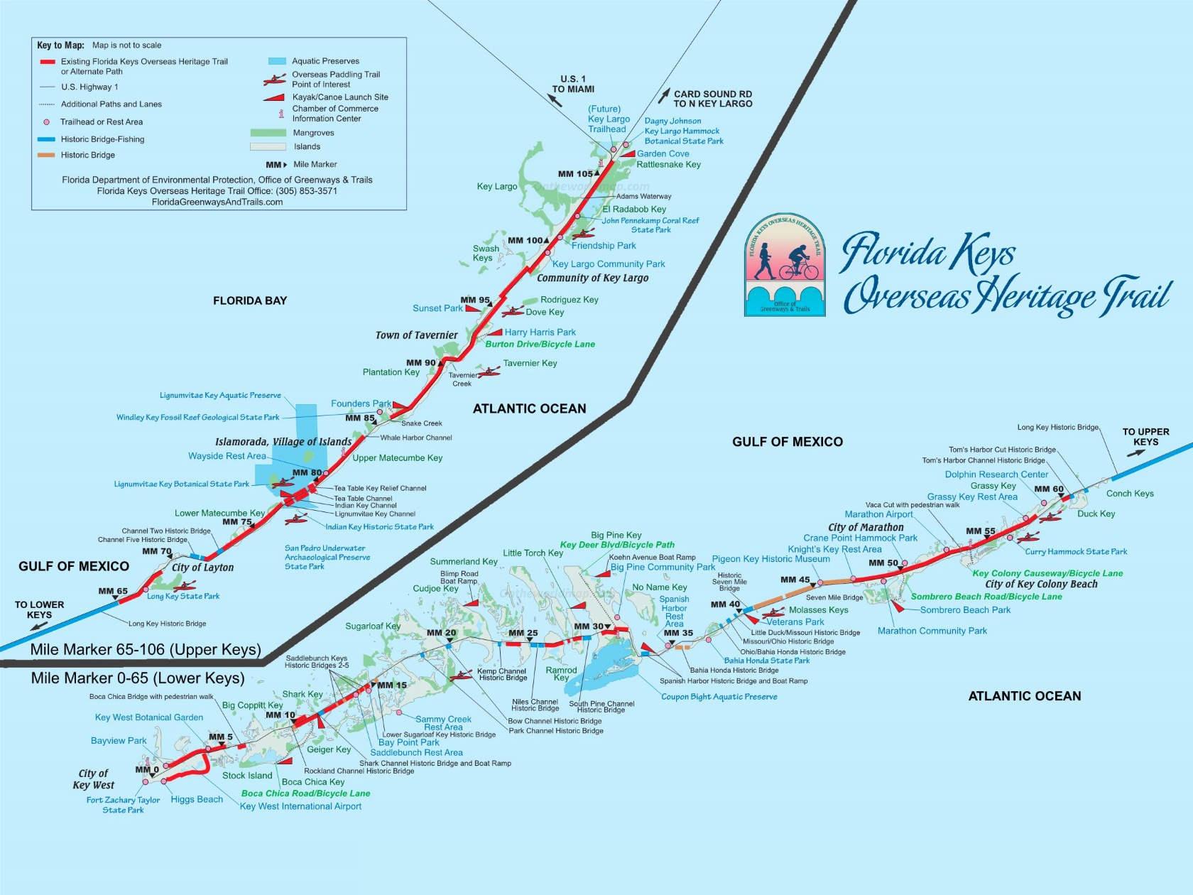 Florida Keys Overseas Heritage Bike Trail Map Florida Keys Overseas Heritage Trail Map