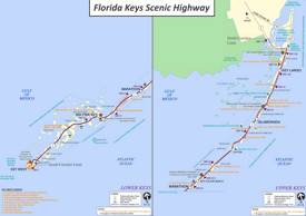 Florida Keys Scenic Highway Map
