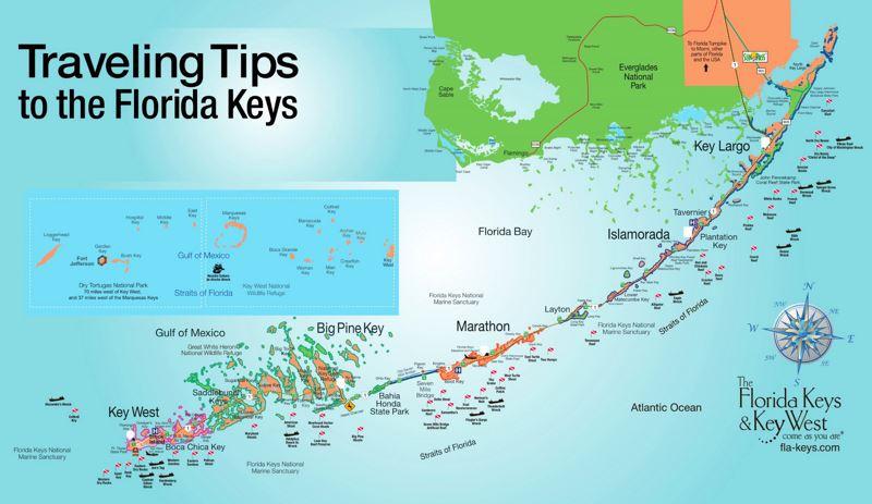 florida keys tourist map