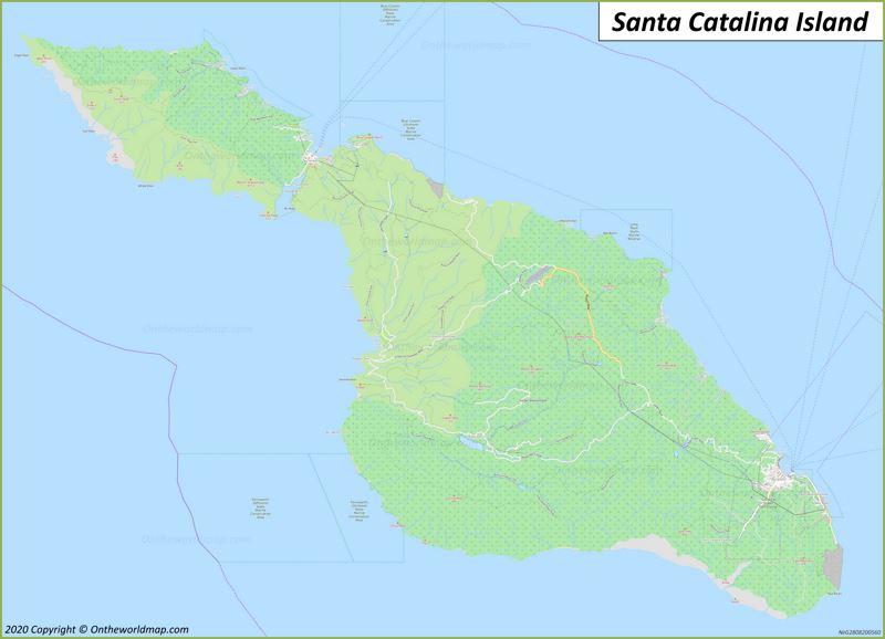 Map of Santa Catalina Island