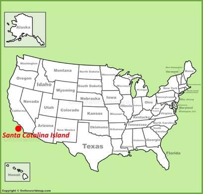 Santa Catalina Island Location Map