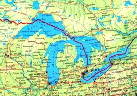 Great Lakes road map