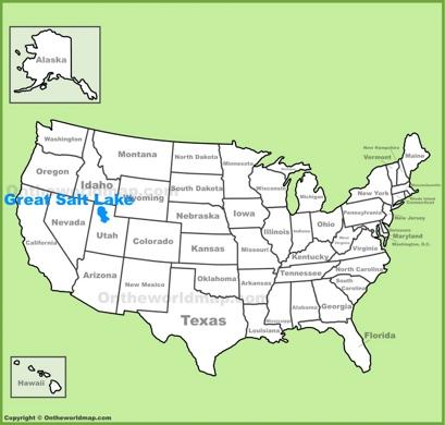 Great Salt Lake Location Map