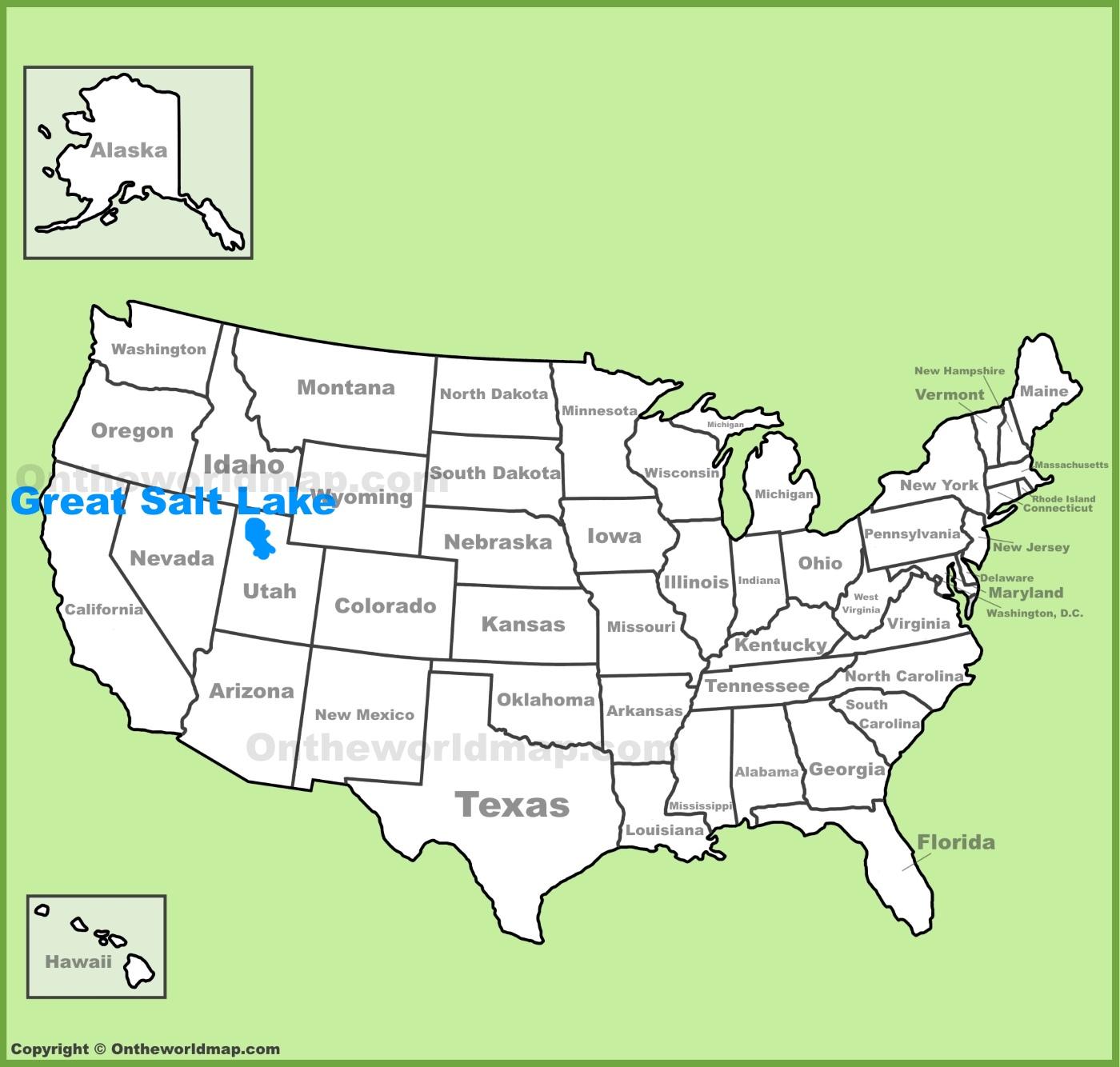 Great Salt Lake Map Great Salt Lake Maps   Maps of Great Salt Lake Great Salt Lake Map