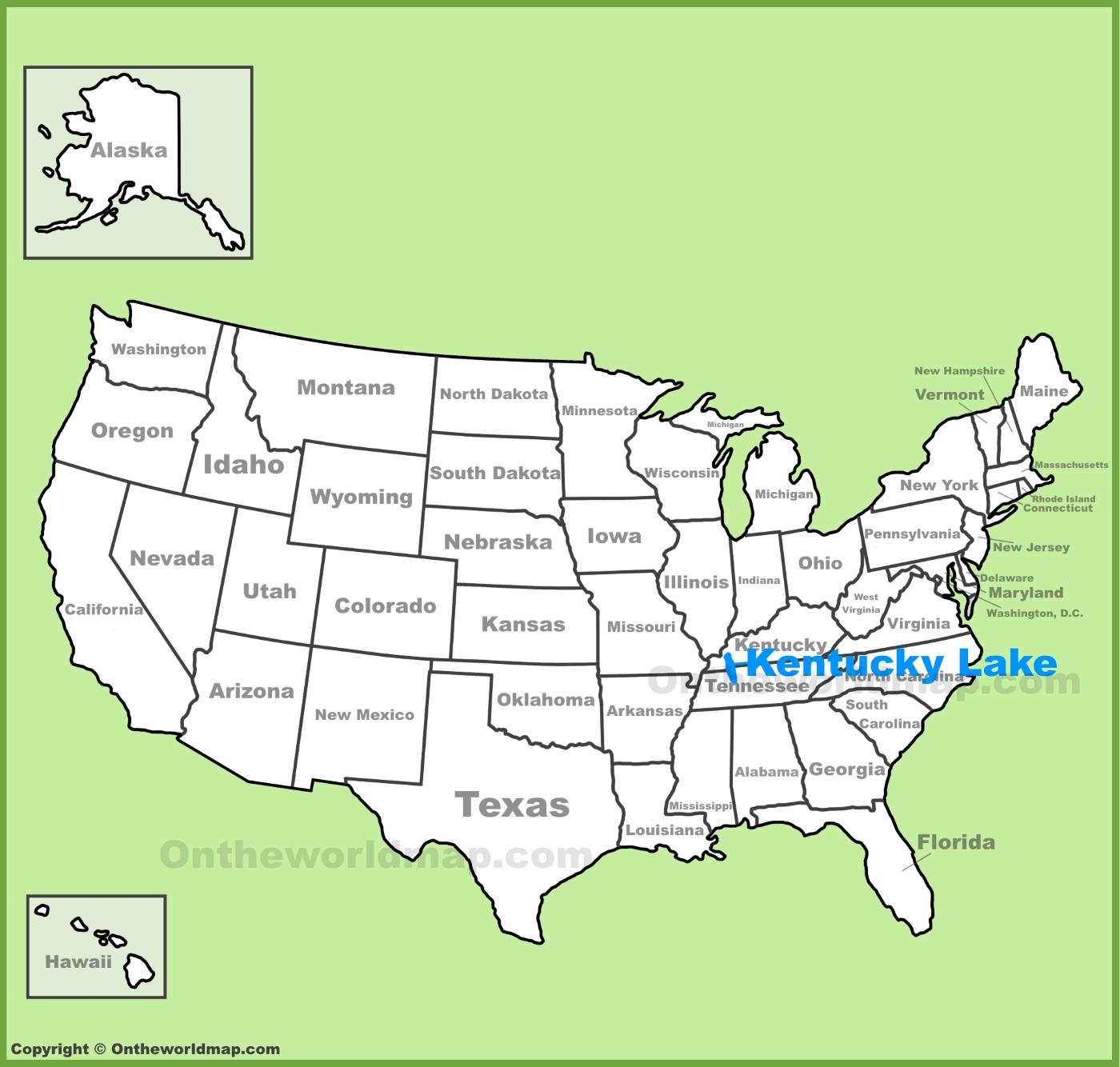 Kentucky Lake Map Kentucky Lake Maps | Maps of Kentucky Lake