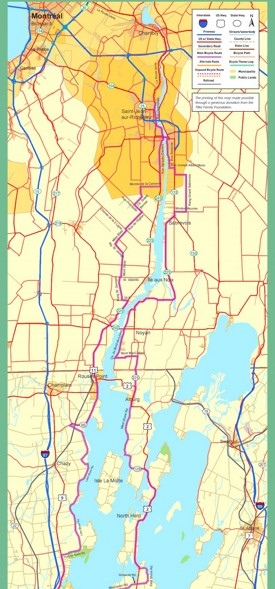 Lake Champlain bike map
