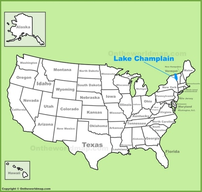 Lake Champlain Location Map