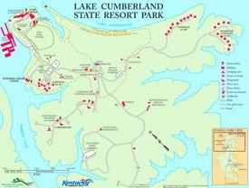 Lake Cumberland State Resort Park Map