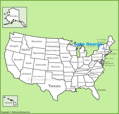 Lake George Maps Maps Of Lake George