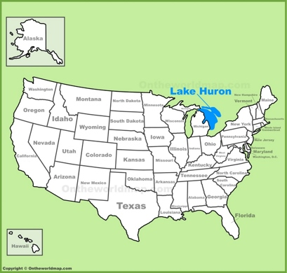 Lake Huron On Us Map Lake Huron Maps | Maps of Lake Huron
