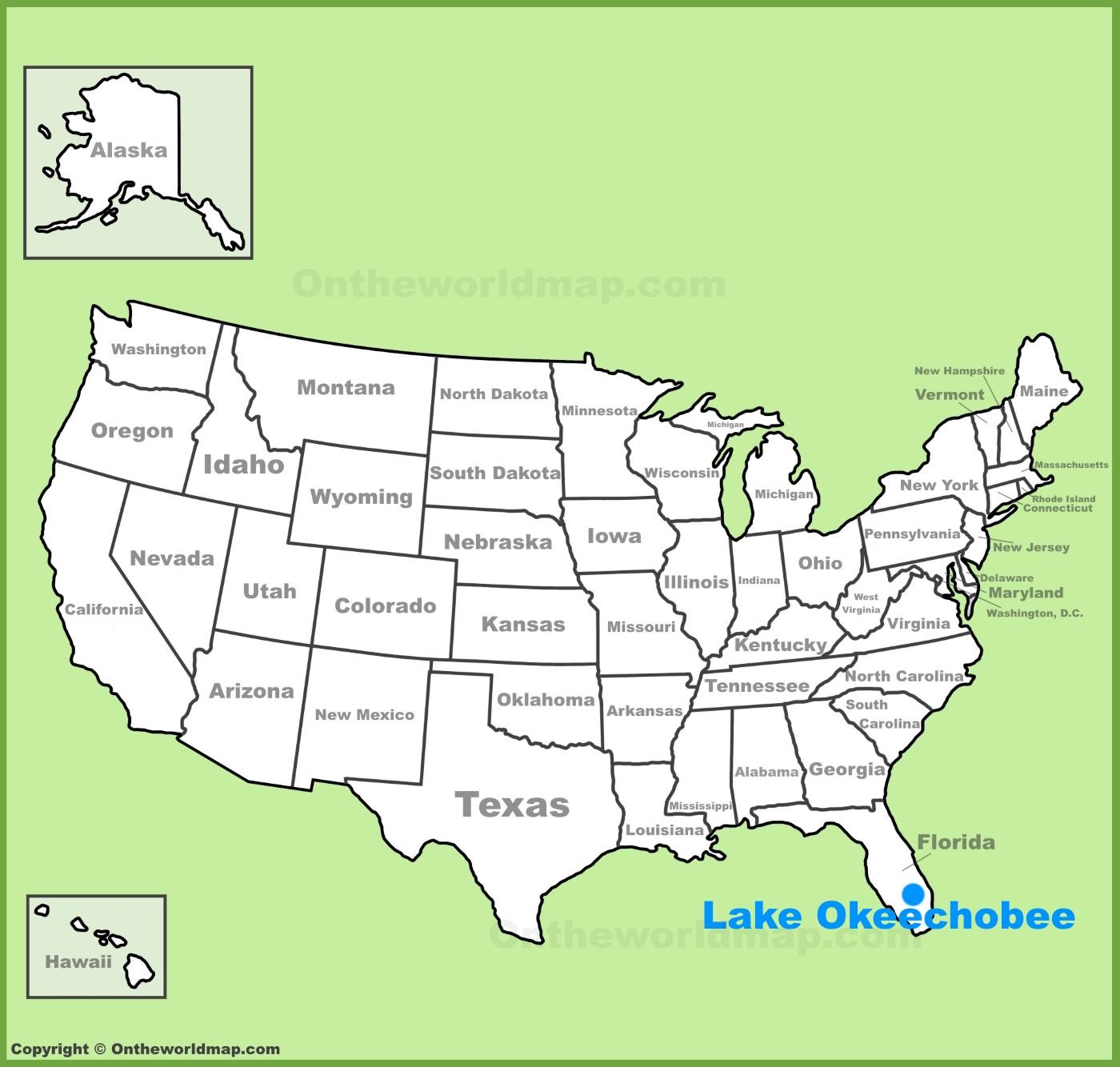 Lake Okeechobee Maps Maps of Lake Okeechobee