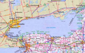 Lake Ontario road map