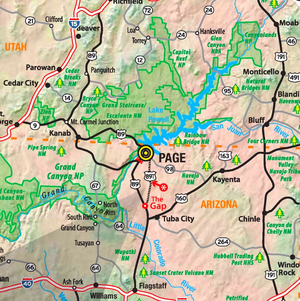 Lake Powell area map