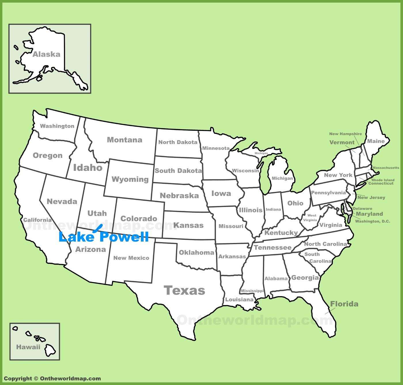 Lake Powell Map Lake Powell Maps | Maps of Lake Powell Lake Powell Map