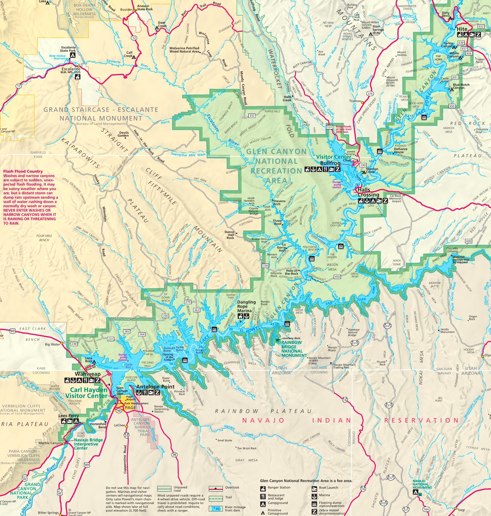 Lake Powell Maps Maps of Lake Powell