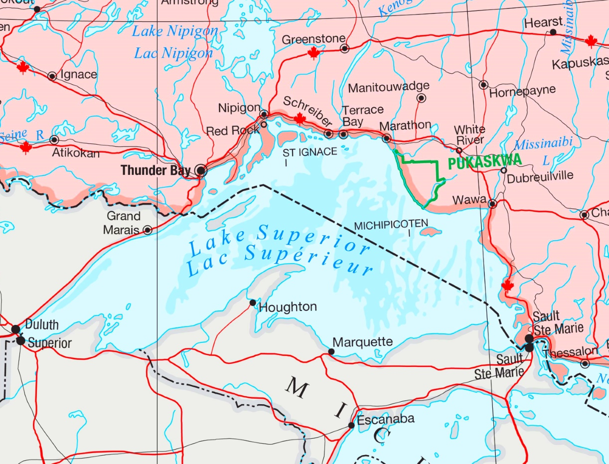 Lake Superior road map