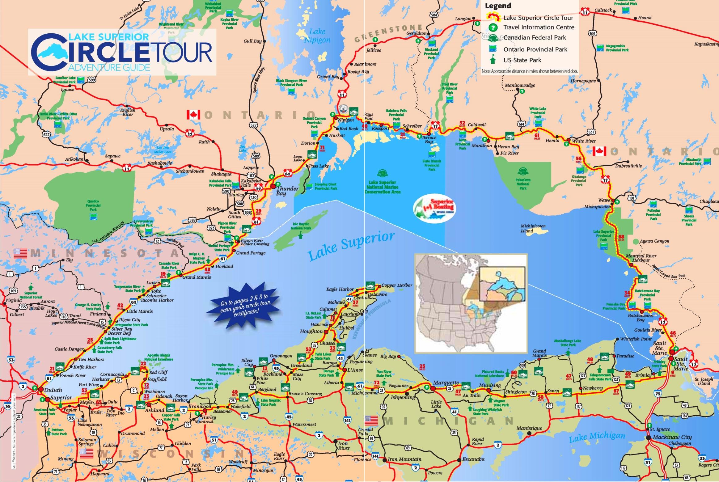 Lake Superior Maps Maps of Lake Superior