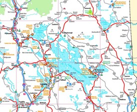 Lake Winnipesaukee tourist map