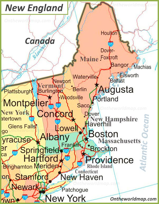 Map Of New England (United States)  South Map Usa on garden state parkway map, interstate 295 map, route 495 map, i-74 map, northern state parkway map, i-85 map, 81 north map, daylight map, interstate 91 map, east coast highway map, interstate 65 map, new jersey turnpike map, 10 east map, interstate 87 map, i-93 map, i-24 map, interstate 93 map, pa turnpike map, interstate 81 map,