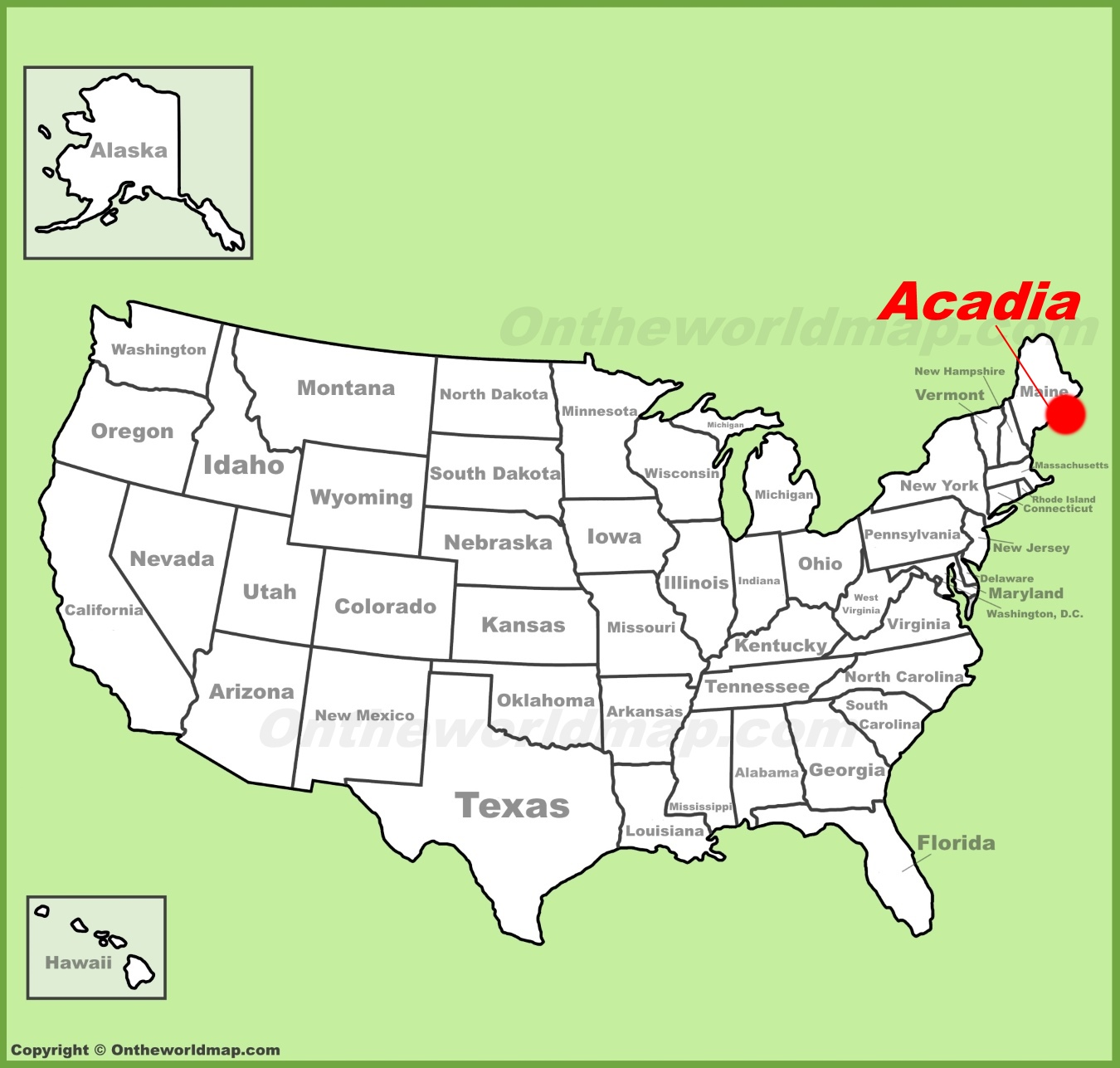 full size acadia location map