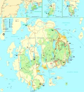 Acadia Maps USA Maps of Acadia National Park