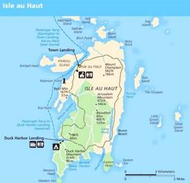 Isle au Haut map