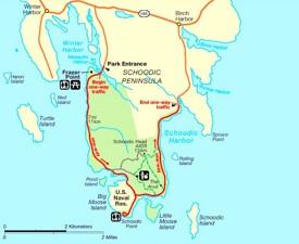Schoodic Peninsula Map