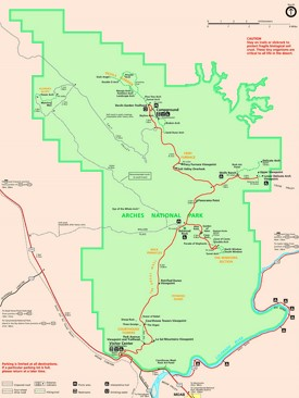 Arches National Park hiking map