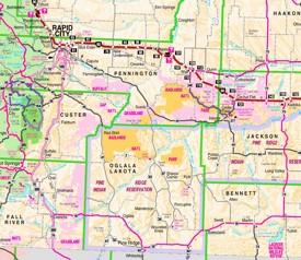 Badlands Nebraska Map.Badlands Maps Usa Maps Of Badlands National Park
