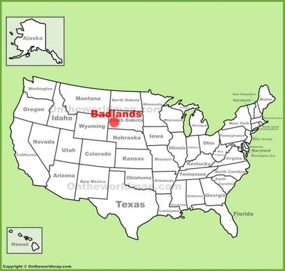 Badlands Location Map