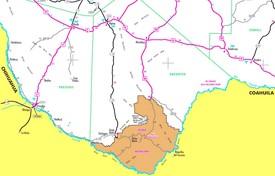Big Bend National Park area road map
