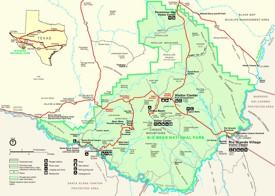 Big Bend National Park tourist map
