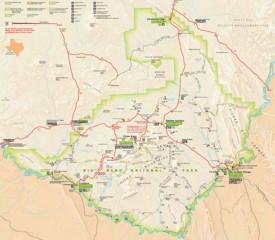 Big Bend National Park trail map