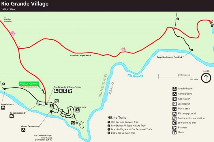 Big Bend Rio Grande Village Map