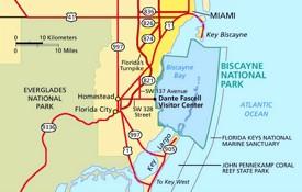 Biscayne National Park area road map