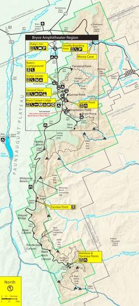 Bryce Canyon Amphitheater Map