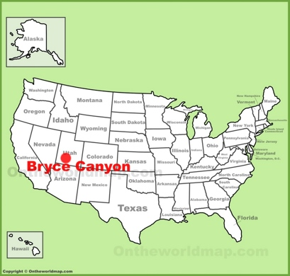 Bryce Canyon Maps USA Maps of Bryce Canyon National Park