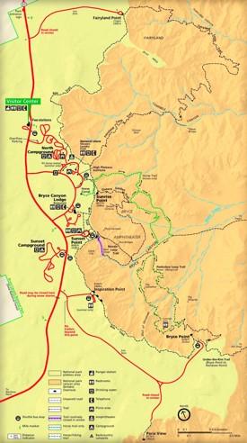 Bryce Canyon Maps USA Maps of Bryce Canyon National Park