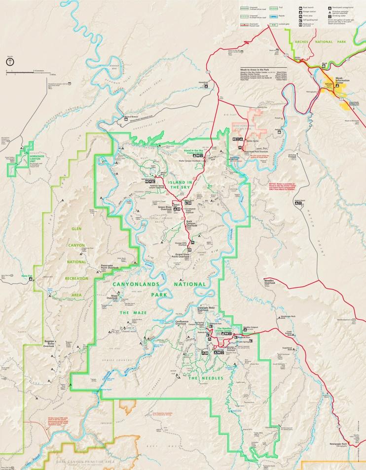 Canyonlands National Park camping map